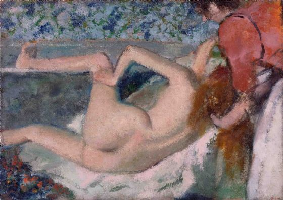 Degas, Edgar: After the Bath. Fine Art Print/Poster. Sizes: A4/A3/A2/A1 (003734)